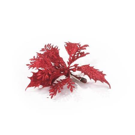 Brokatowa Czerwona przypinka