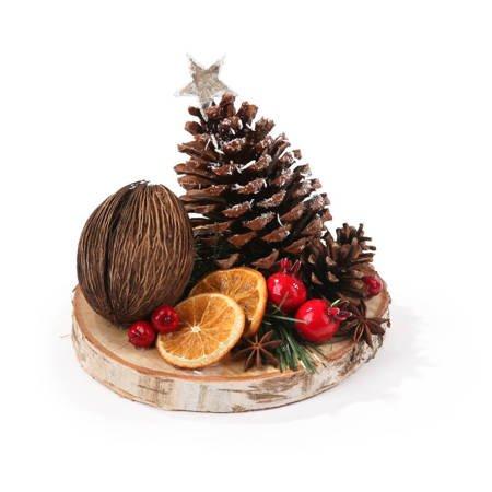 Plaster brzozowy z choinką szyszkową i kokosem