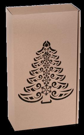 Pudełko prezentowe EKO Kraft 8 36x20x9,5 cm - CHOINKA