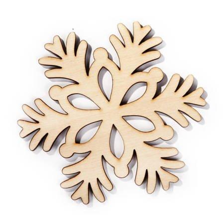 Wycinane śnieżynki gwiazdy renifery 8cm