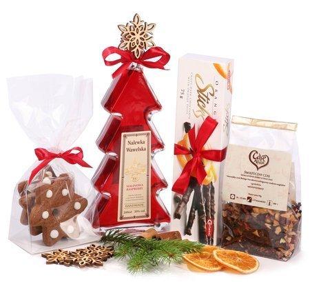 Zestaw prezentowy - Świąteczna Nalewka Wawelska z pierniczkami